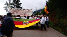 March by the communities of the Ayuujk people, June 22, 2016 (Radio Jenpoj)