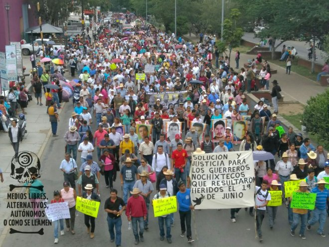 March in Oaxaca on August 22.