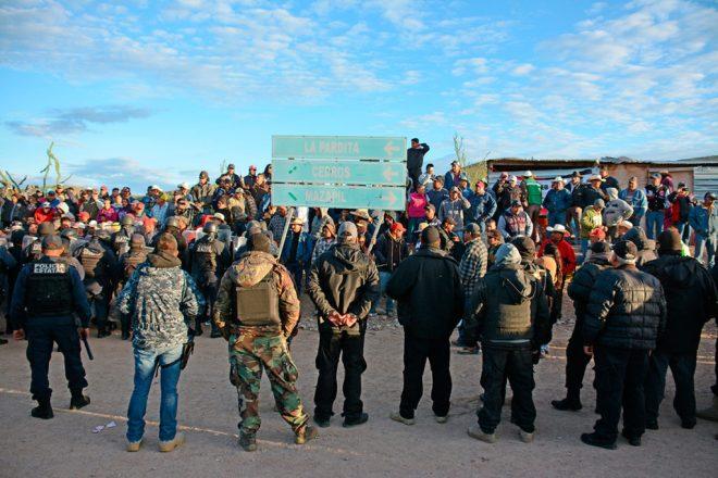 Blockade of the Peñasquito gold mine in Zacatecas.